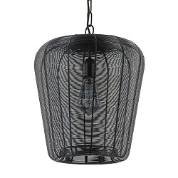 Draad hanglamp Adeta mat zwart Ø31 cm