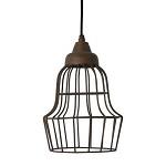 Hanglamp Birke landelijk roest-bruin