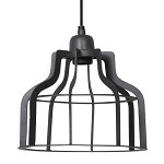 Metalen hanglamp Adine antraciet hal, wc