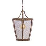 **L&L hanglamp Vivian roest/bruin