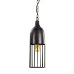 *Zwarte metalen hanglamp draad L&L