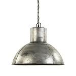 Industriële hanglamp oud metaal