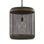 Landelijke hanglamp antiek koper