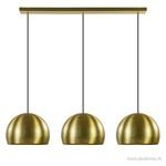 Li&L eettafelhanglamp Jaicey 3-L gold