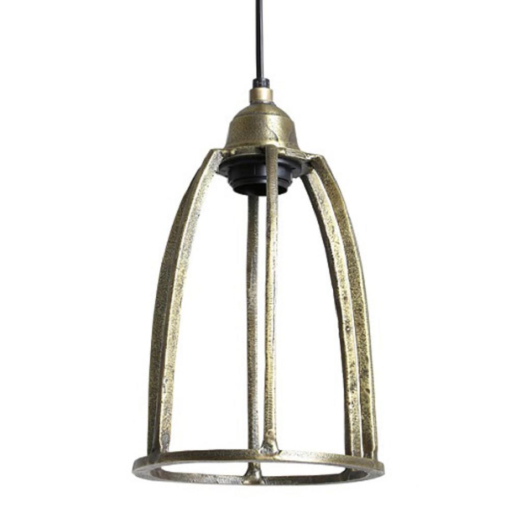 Antiek bronzen hanglamp Britt