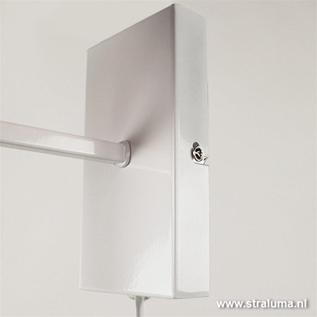 Wandlamp Horn wit hal/woon/slaapkamer