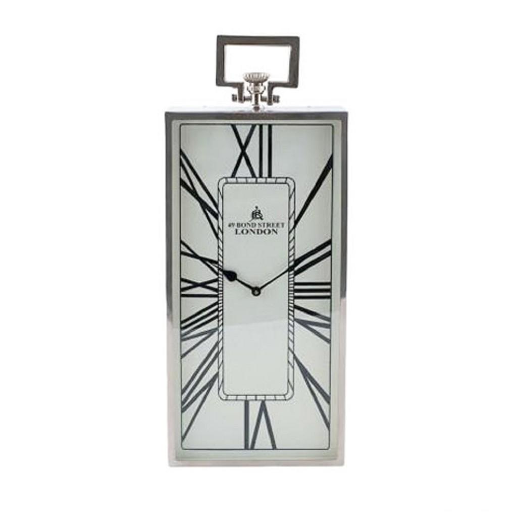 Romantische klok London oud zilver