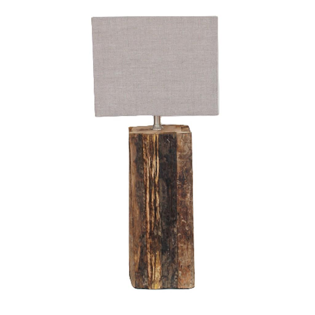 Onwijs Landelijke lampenvoet Rodeo hout   Straluma VJ-78