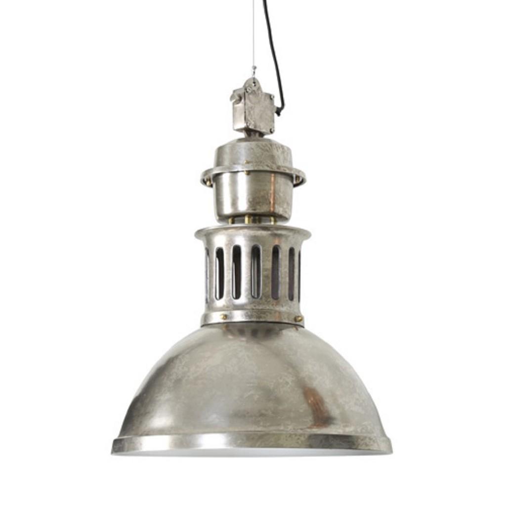 *Antiek zilveren hanglamp industrie