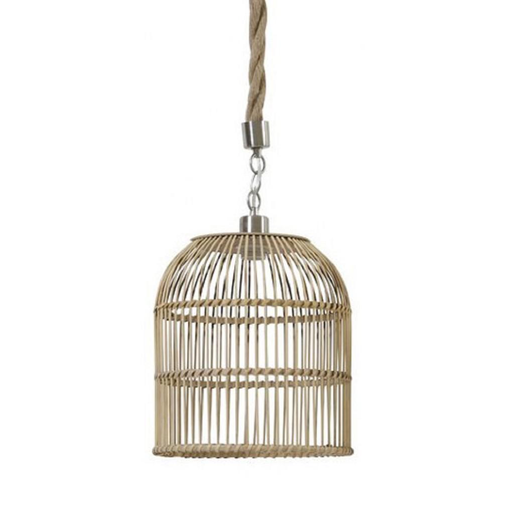 *Hanglamp korf riet met touw
