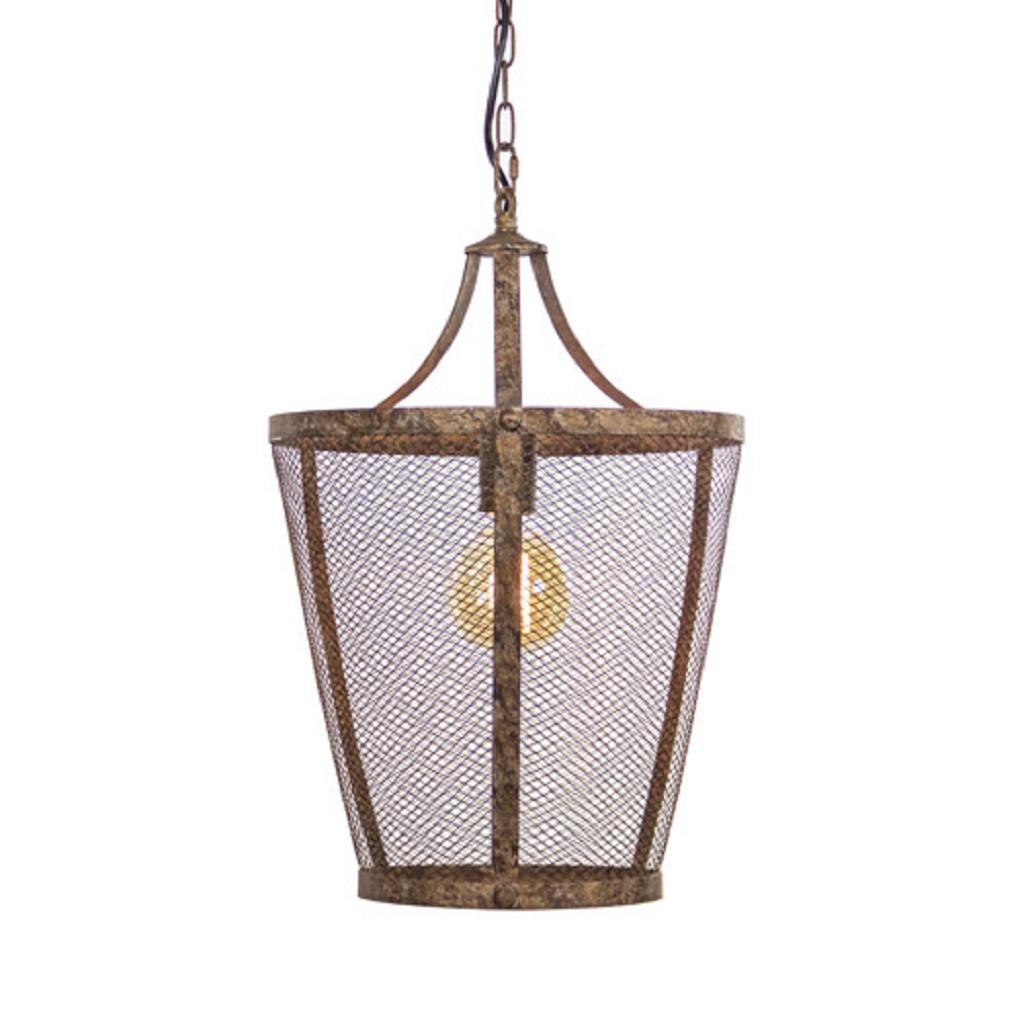 L&L hanglamp Vivian roest/bruin