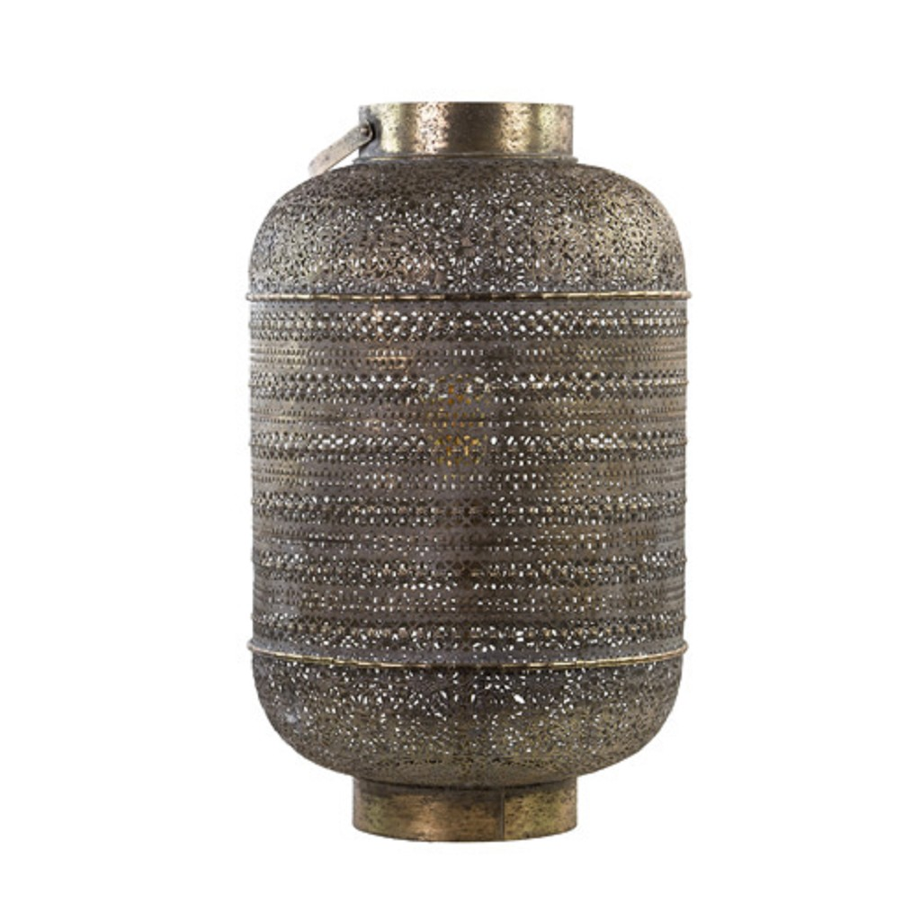 L&L tafellamp UDUPI bruin-goud Oosters