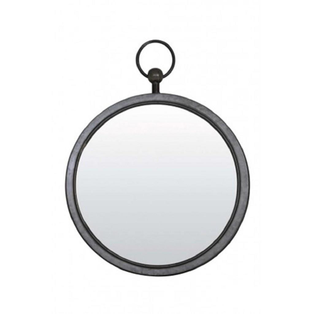Spiksplinternieuw Ronde spiegel zink/grijs groot 46 cm | Straluma SH-08