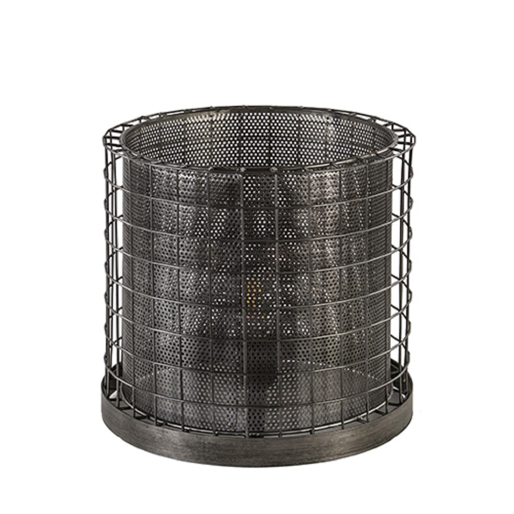 Tafellamp Cajana metaal antiek zink