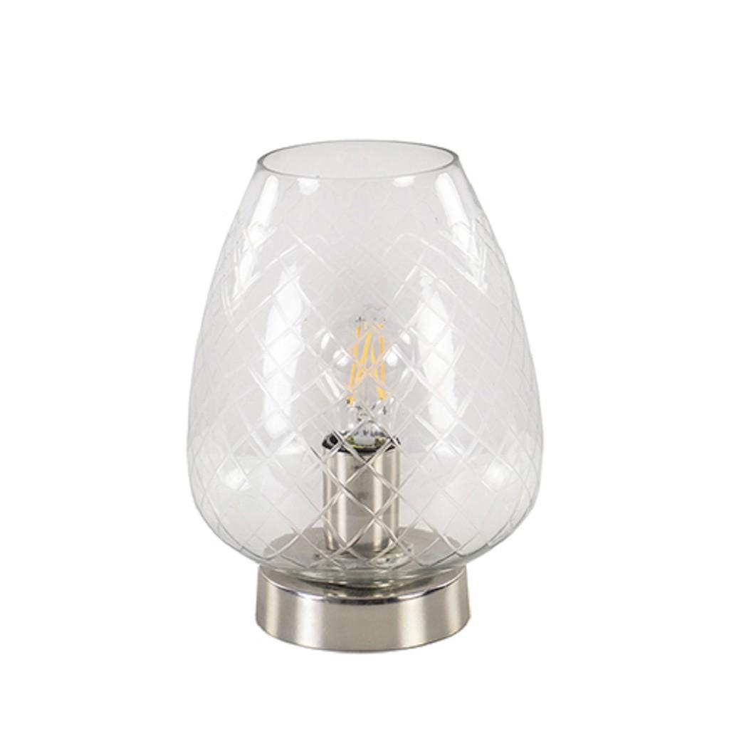 Tafellamp Gisela met ingeslepen glas