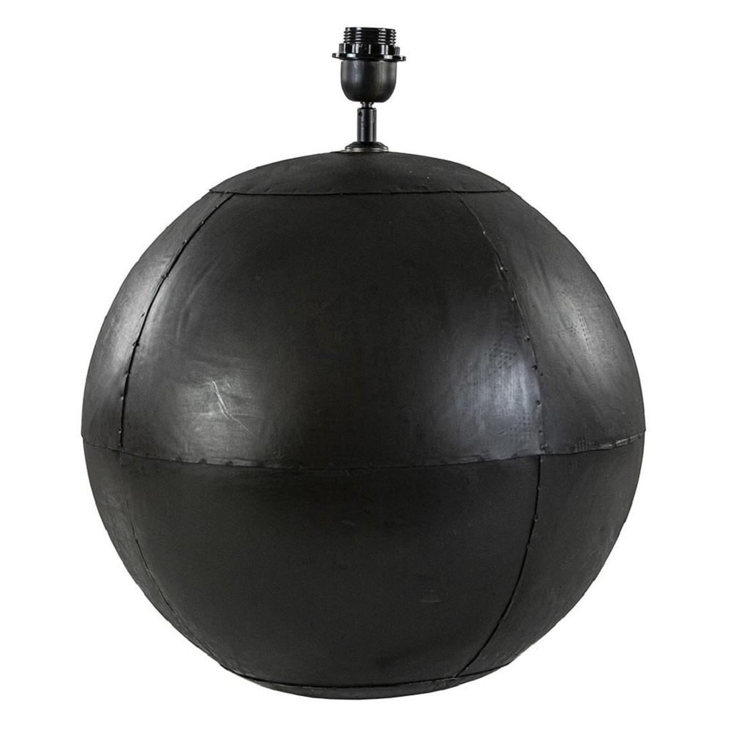 Grote lampvoet Ebula mat zwart metaal