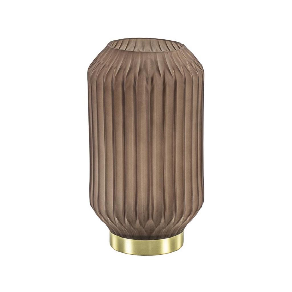 Tafellamp mat koffie, excl. 2 x AAA batterij