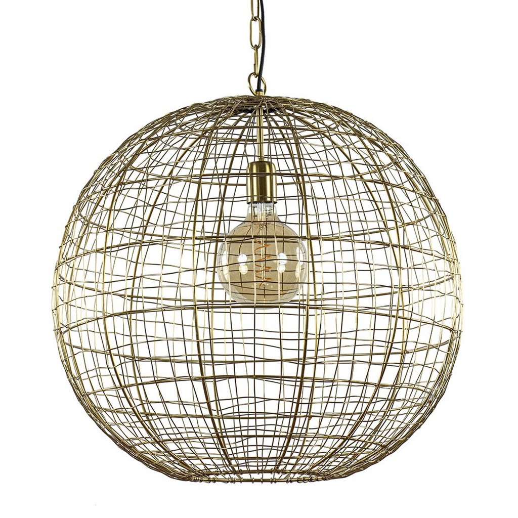 Light & Living hanglamp Mirana brons