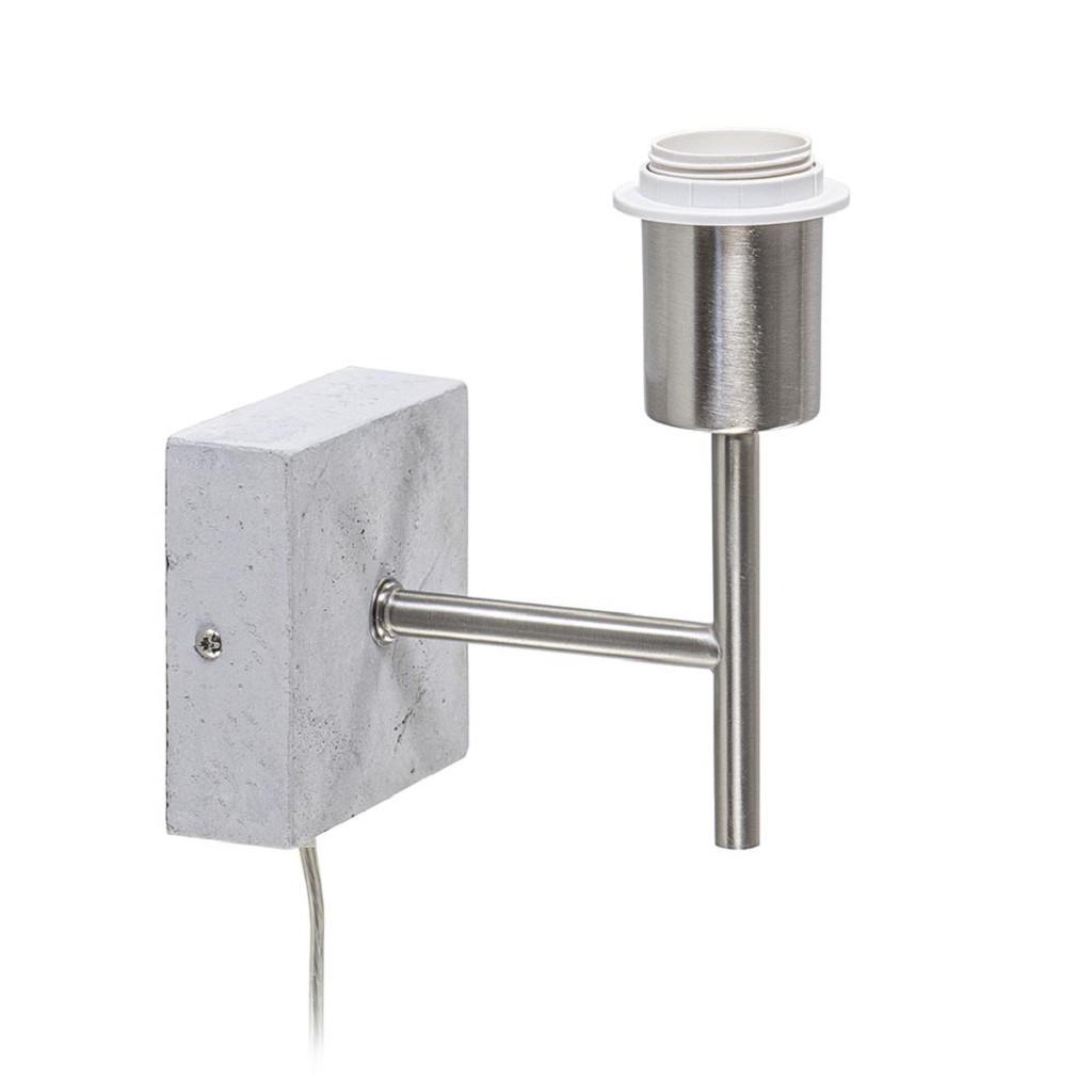 Wandlamp Bremen beton met nikkel inclusief snoer