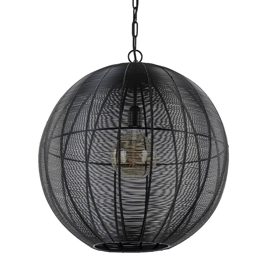 Light and Living hanglamp Amarah rond mat zwart