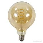 Globe spiral 125mm gold e27 6w 2200k dim