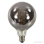 Led spiral globe 125mm e27 grey 6w 2700k