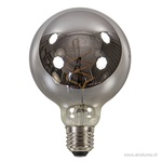 Led spiral globe 95mm e27 grey 6w 2700k