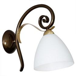 Chique klassieke wandlamp opaal glas