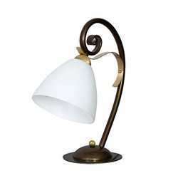 Chique tafellamp hoogglans met goud
