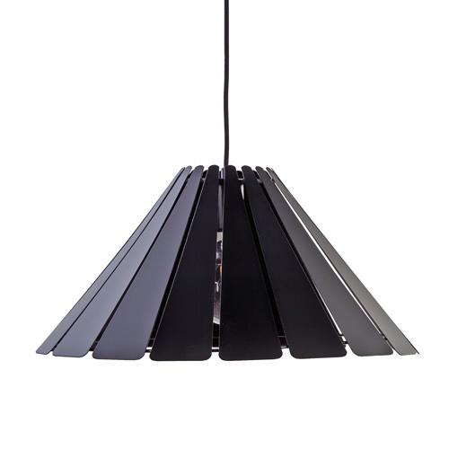 Scandinavische ronde hanglamp zwart