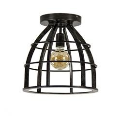 Plafondlamp frame zwart industrieel