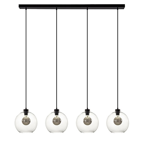 Hanglamp glazen bol 4-l modern clear