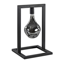 Zwarte tafellamp frame excl. lichtbron