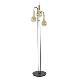 3-Lichts vloerlamp zwart met goud