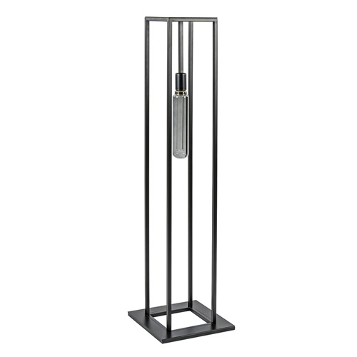 Vierkante vloerlamp open frame mat zwart