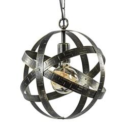 Industrieel landelijke hanglamp antiek brons rond