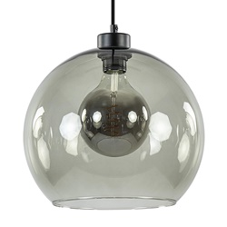 Hanglamp zwart met smoke glas 30cm