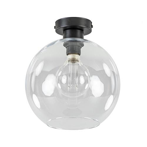 Moderne plafondlamp globe helder glas
