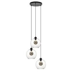 Hanglamp 3-lichts rond glas helder 25 cm