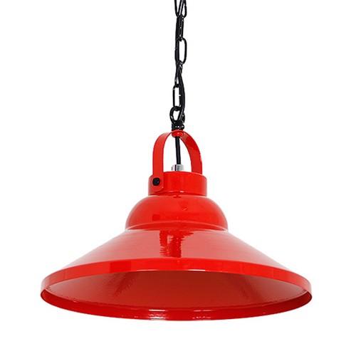 *Metalen hanglamp kap rood keuken-bar