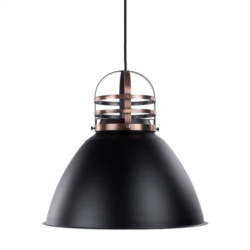 luxe industrià le hanglamp zwart koper straluma