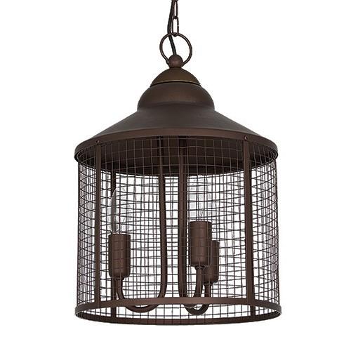 Landelijke hanglamp-lantaarn eettafel