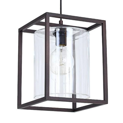 Landelijke hanglamp lantaarn bruin