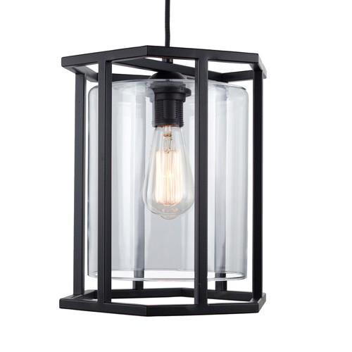 **Zwarte lantaarn frame 6-kant keuken