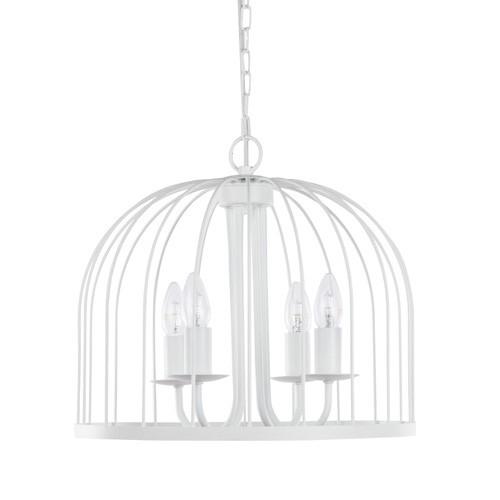 *Romantische witte hanglamp kroon-kooi