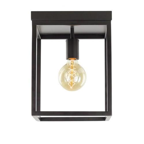* Bruine plafondlamp Frame vierkant