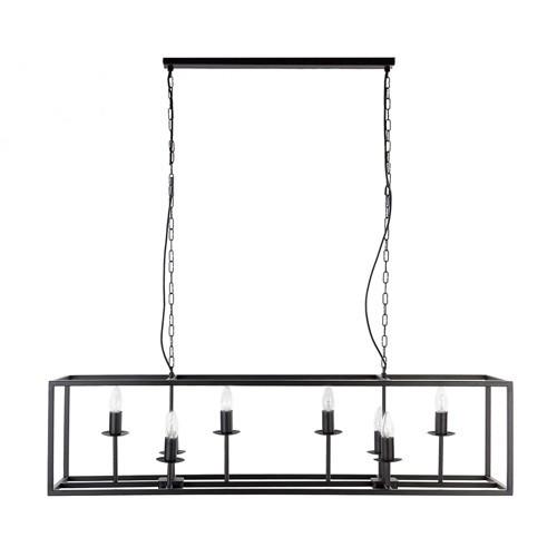 Strak klassieke eettafel hanglamp zwart