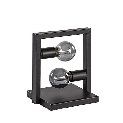 Zwarte tafellamp frame metaal