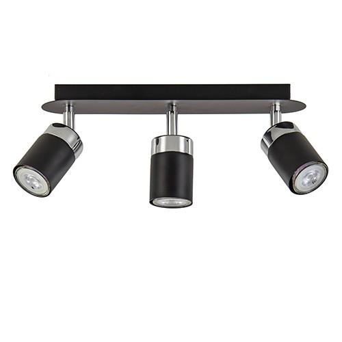 Plafondspot 3-lichts zwart modern