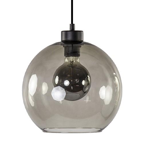 Trendy hanglamp smoke glas rond